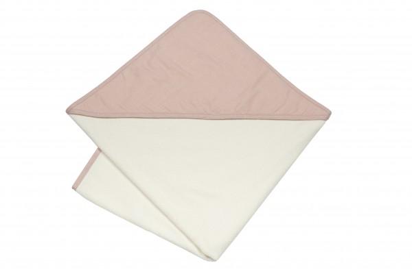 Pünktchen Kapuzenbadetuch, 100 x 100 cm rosa