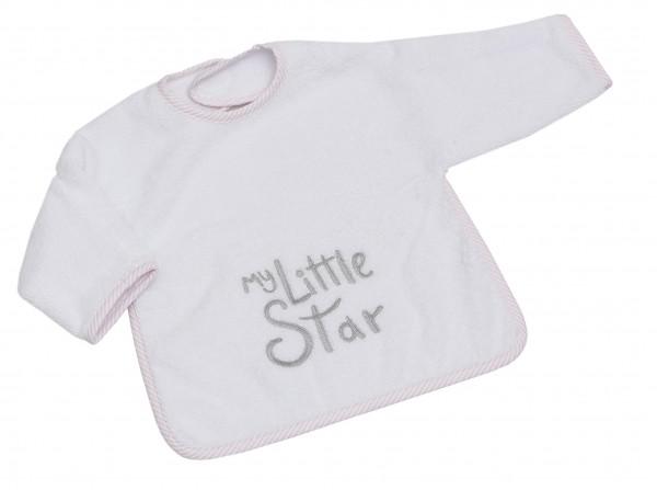 My little Star rosa Ärmel-Lätzchen mit Klett