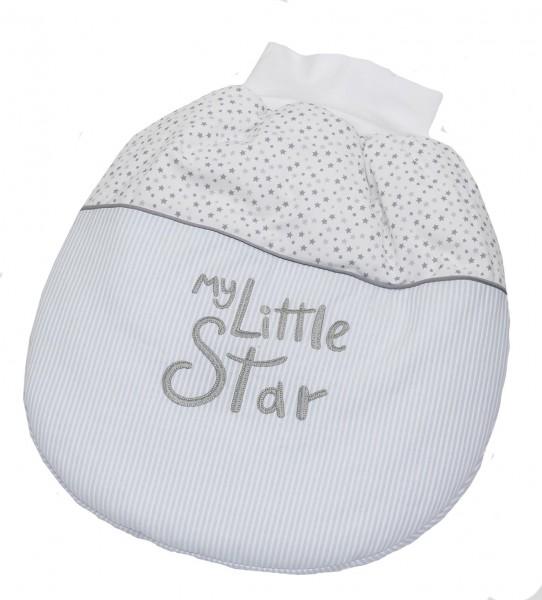 My little Star blau Strampelsäckchen, wattiert