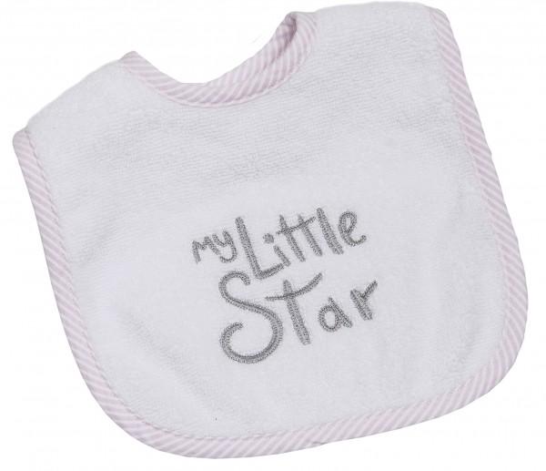 My little Star rosa Klett Lätzchen 24x36