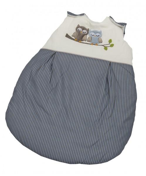 Eulen blau Sommer-Schlafsack 70 cm
