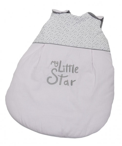 My little Star rosa Sommer-Schlafsack 90 cm
