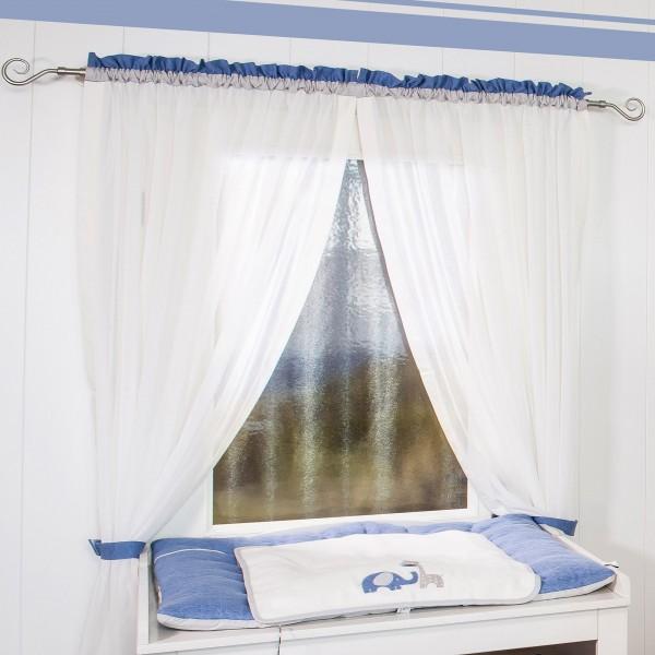 Max & Mila Vorhang, 2 Schlaufenschals je 100 x 150 blau