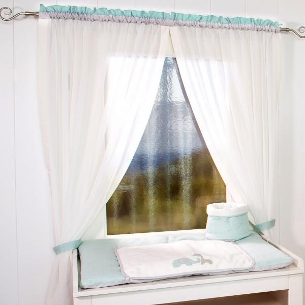 Max & Mila Vorhang, 2 Schlaufenschals je 100 x 240 mint