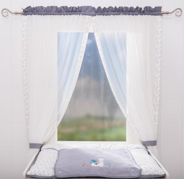Lama Vorhang, 2 Schlaufenschals je 100 x 240