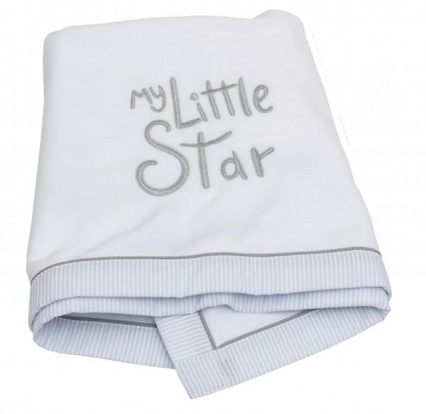 My little Star blau Fleece-Decke 75x100
