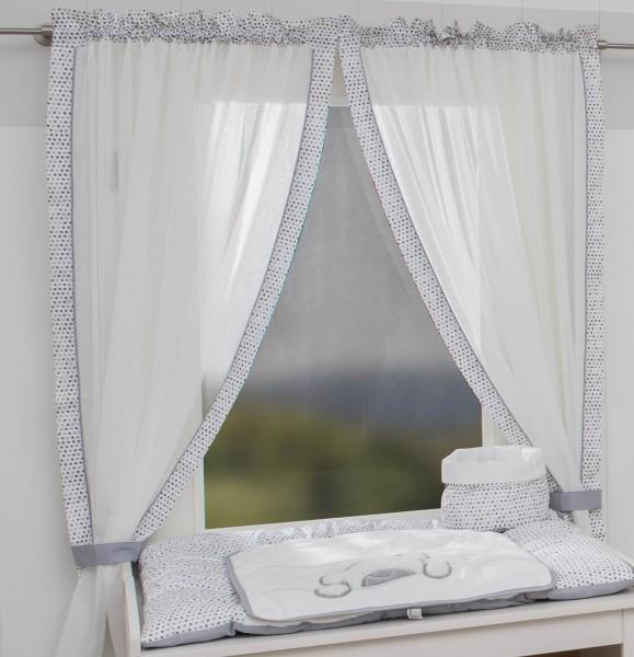 Big Willi grau Vorhang, 2 Schlaufenschals je 100x240