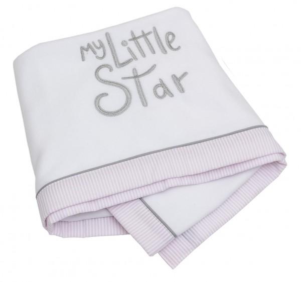 My little Star rosa Fleece-Decke 75x100